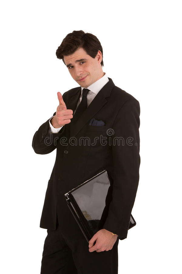 Profile shot of a handsome business executive royalty free stock photography