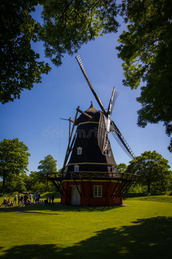 Profile shot of windmill stock photography
