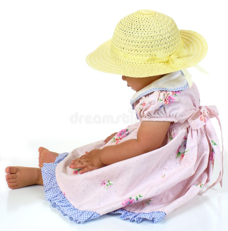 Download Profile Of Sitting Baby Girl Stock Photo - Image: 18519490