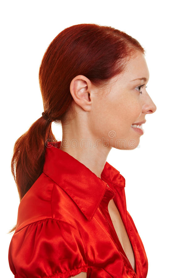 Download Profile View Of A Redhaired Woman Stock Photo - Image: 20889848