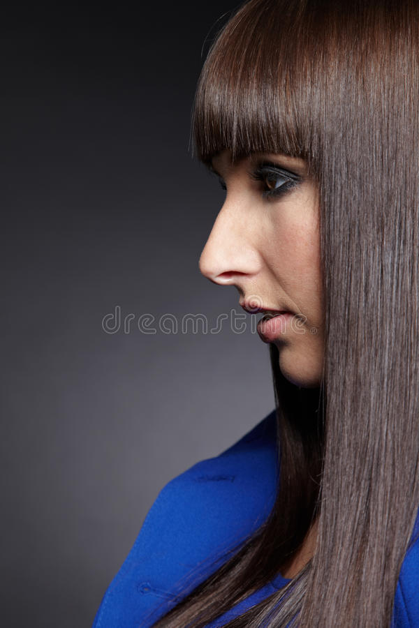 Profile View Of Woman Royalty Free Stock Image