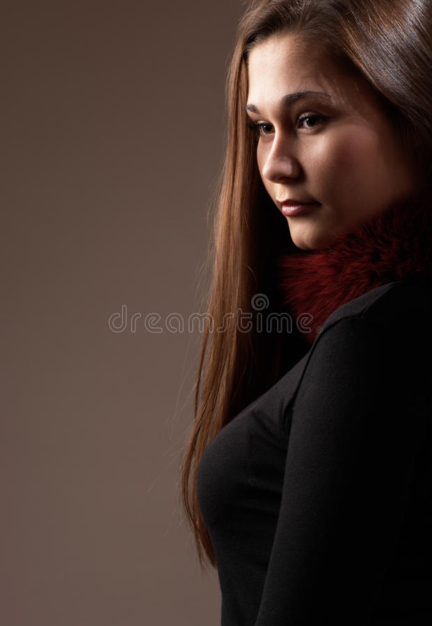 Profile of a woman royalty free stock photos