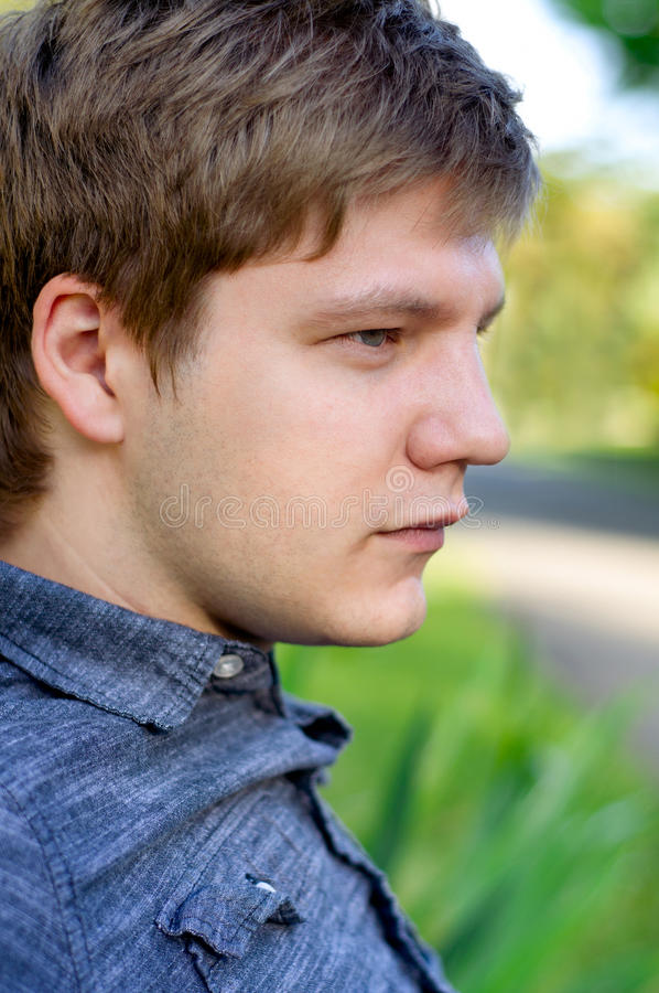 Download Profile Of A Young Man stock image. Image of face, attractive - 21445173