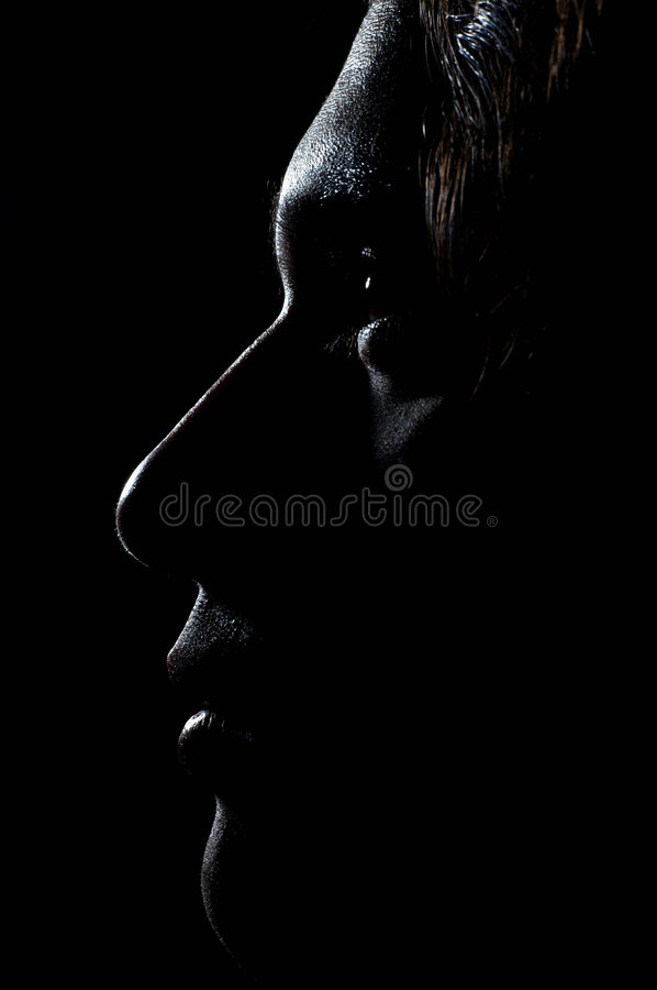 Profile of young man royalty free stock photo