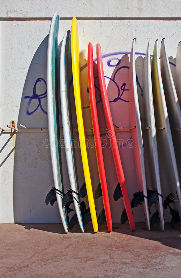 Profiled surf board stock photography