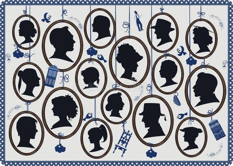 profiler royaltyfri illustrationer