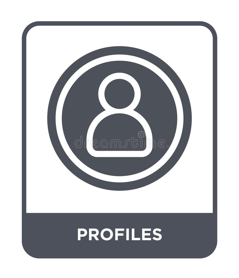 profiles icon in trendy design style. profiles icon isolated on white background. profiles vector icon simple and modern flat stock illustration