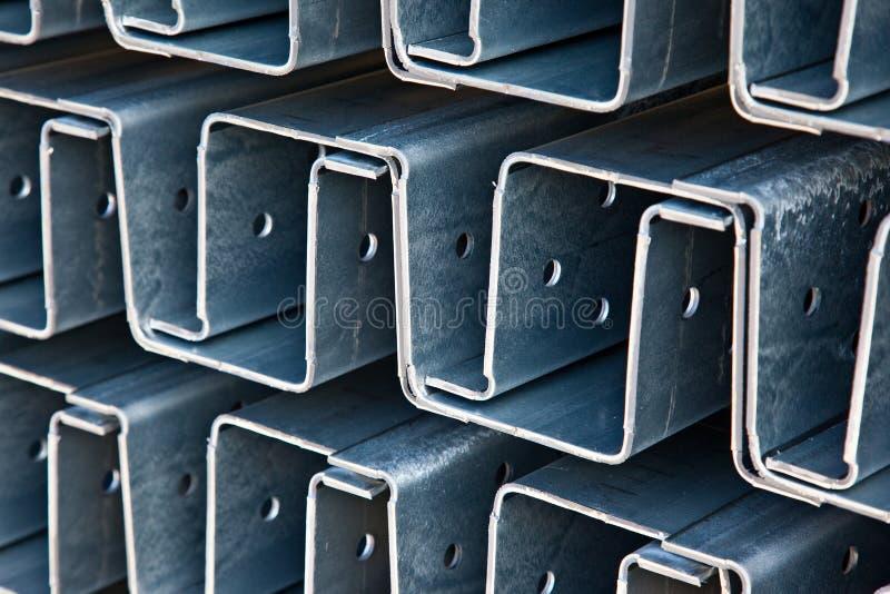 Profili d'acciaio fotografie stock libere da diritti