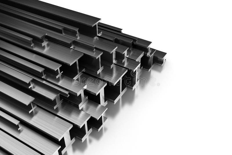 Profili d'acciaio illustrazione vettoriale