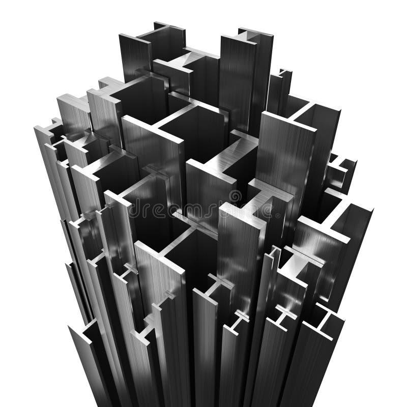 Profili d'acciaio royalty illustrazione gratis