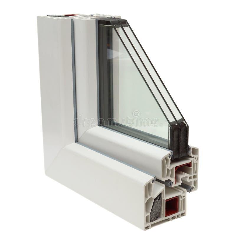 Profilo di plastica delle finestre fotografia stock for Stock finestre pvc