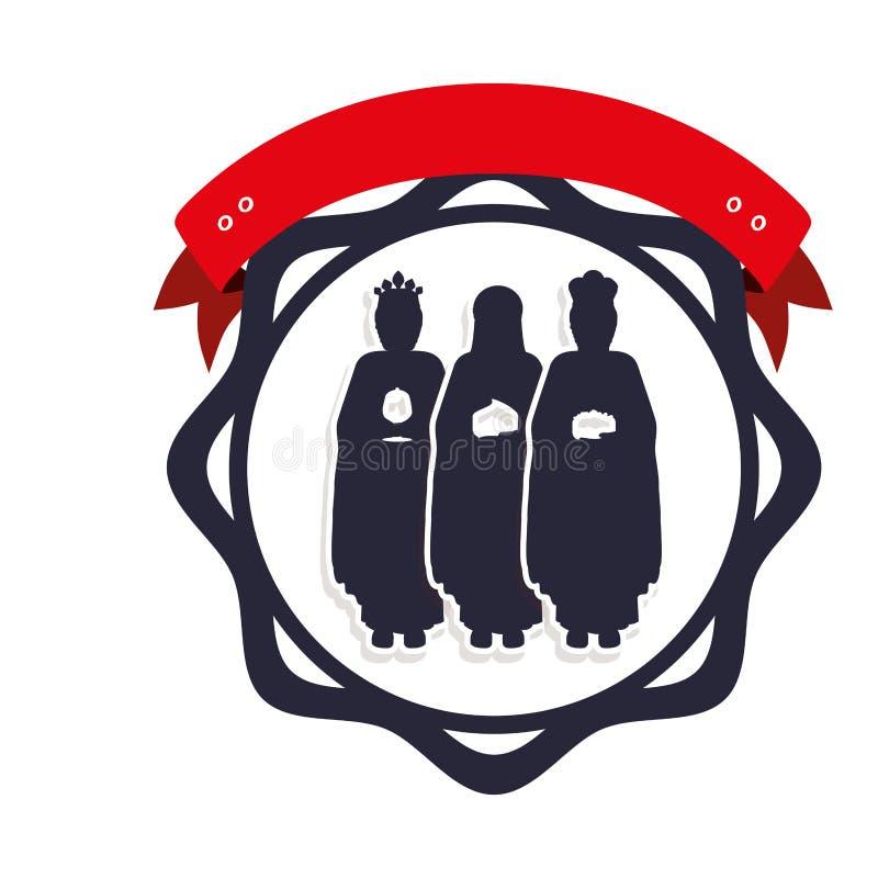Profili il confine con i tre saggi ed identifichi royalty illustrazione gratis