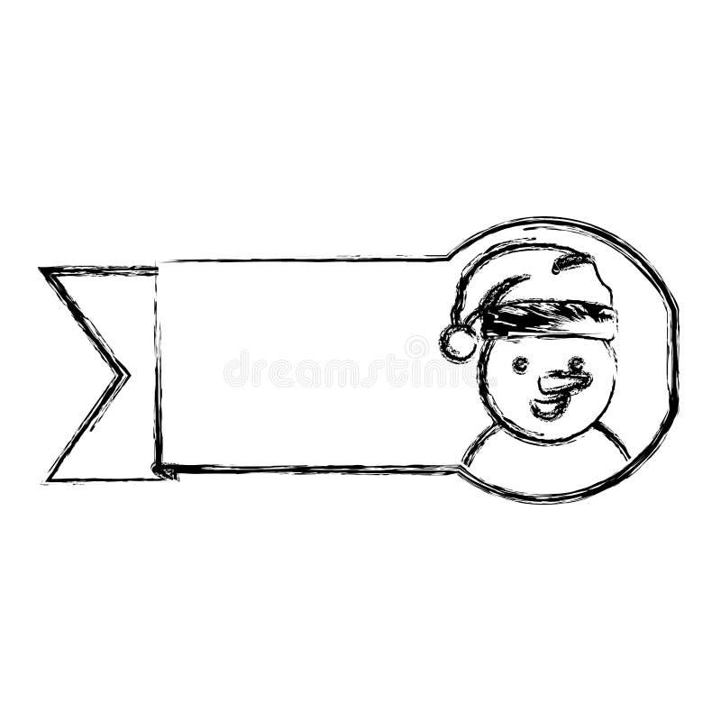 profili il nastro vago con progettazione di natale del pupazzo di neve del fumetto royalty illustrazione gratis