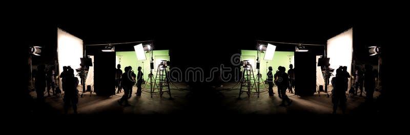 Profili le immagini di video produzione dietro le scene fotografie stock libere da diritti