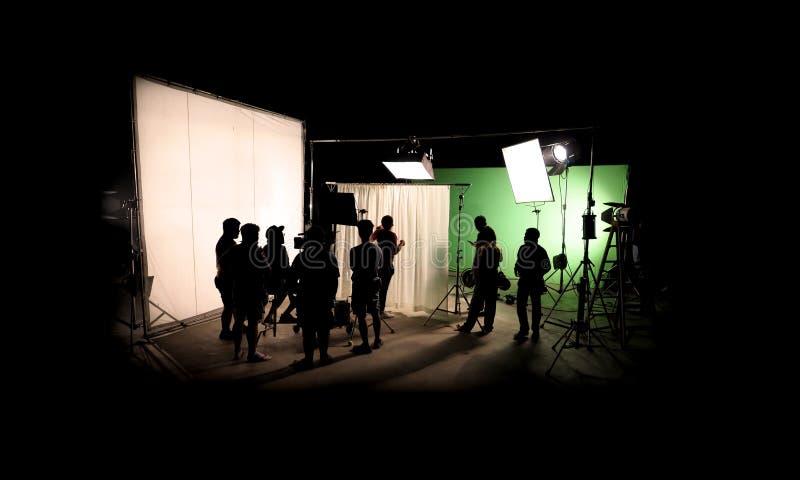 Profili le immagini di video produzione dietro le scene fotografia stock libera da diritti