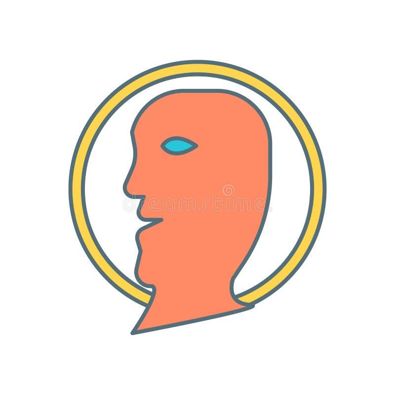 Profilieren Sie den Ikonenvektor, der auf weißem Hintergrund, Profilzeichen lokalisiert wird stock abbildung