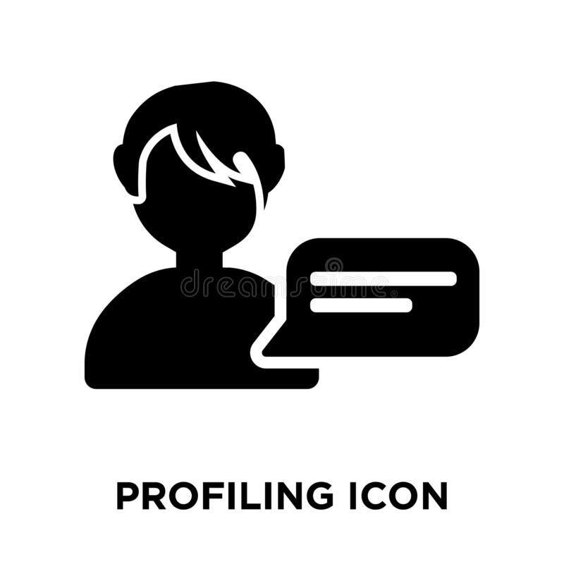 Profiling icon vector isolated on white background, logo concept royalty free illustration