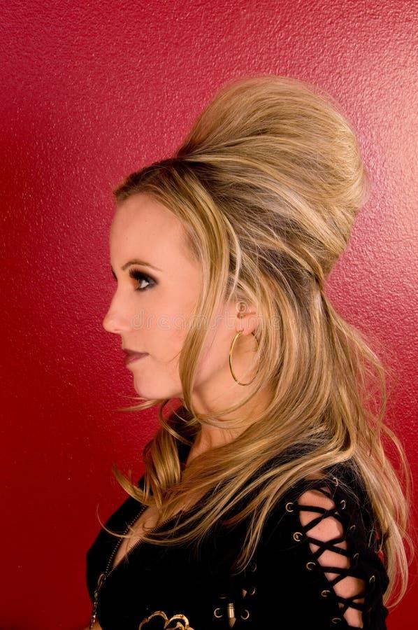 profilkvinna royaltyfria bilder