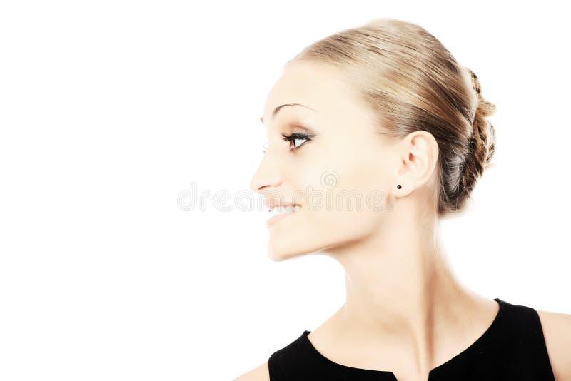 Profillächeln lizenzfreie stockfotos