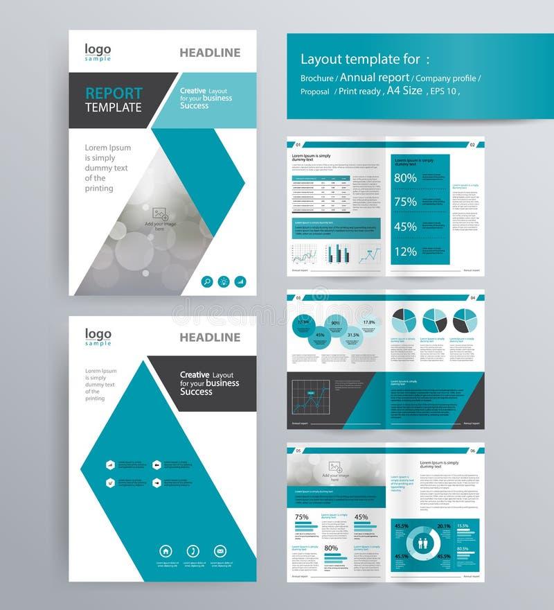 Profilo aziendale, rapporto annuale, modello dell'opuscolo illustrazione di stock
