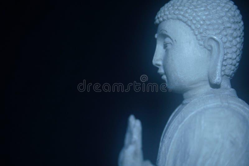 Profilo bianco del Buddha immagini stock