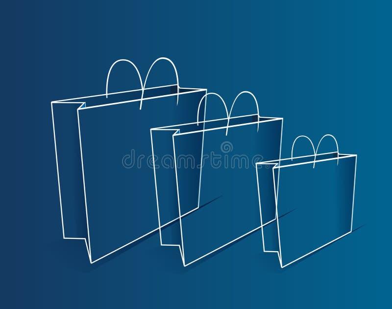 Profilo dei sacchetti di acquisto illustrazione vettoriale