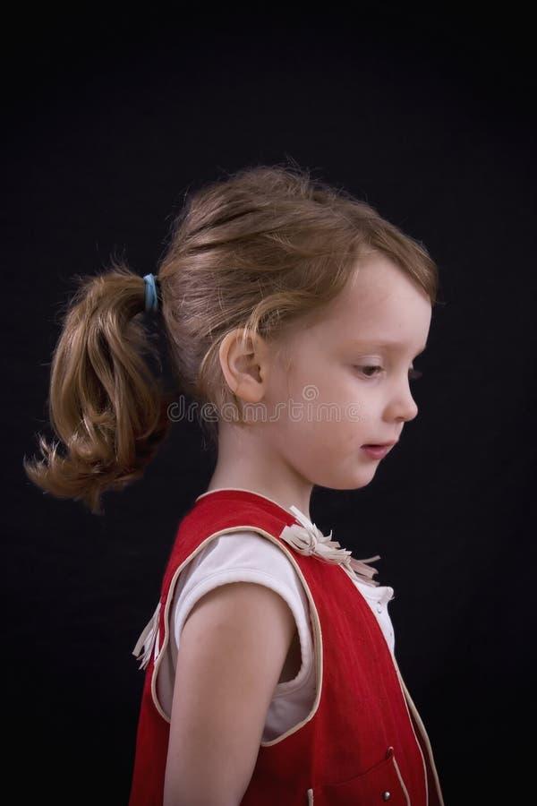 Profilo del Cowgirl fotografie stock