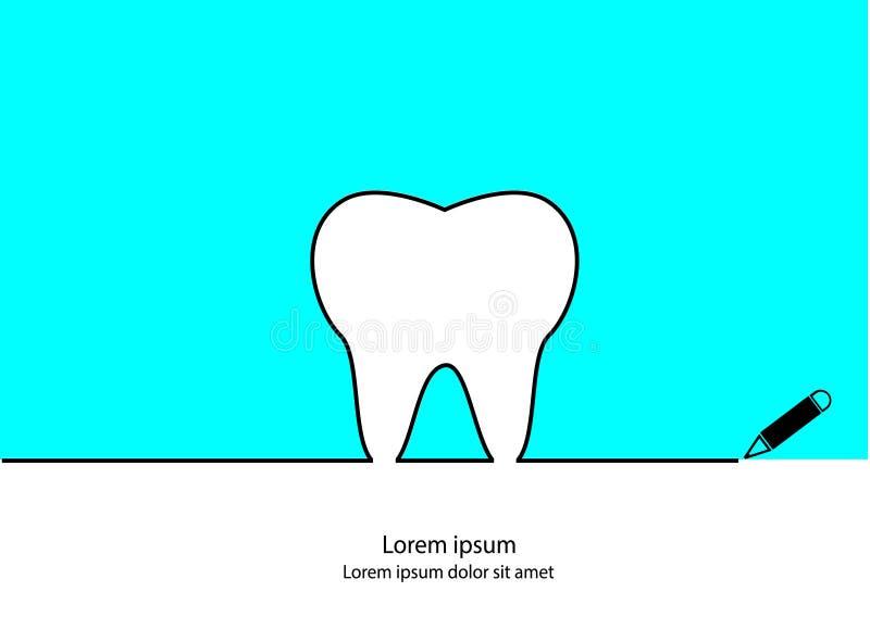Profilo del dente illustrazione vettoriale