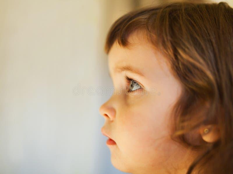 Profilo del fronte della ragazza immagini stock