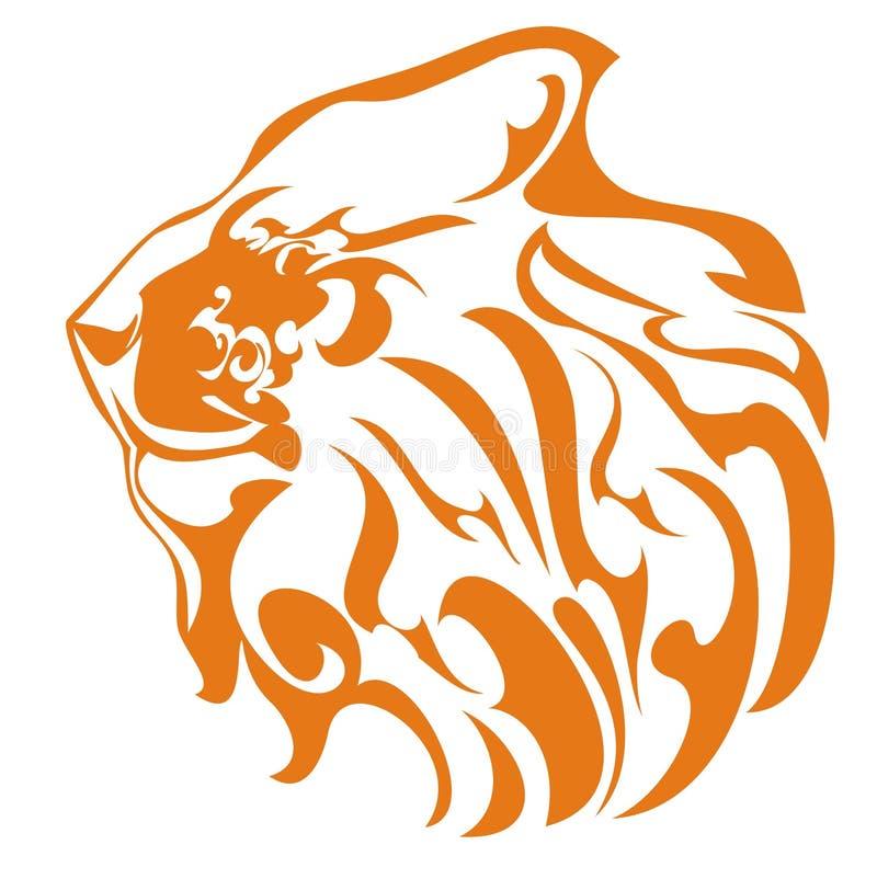 Profilo del leone illustrazione vettoriale