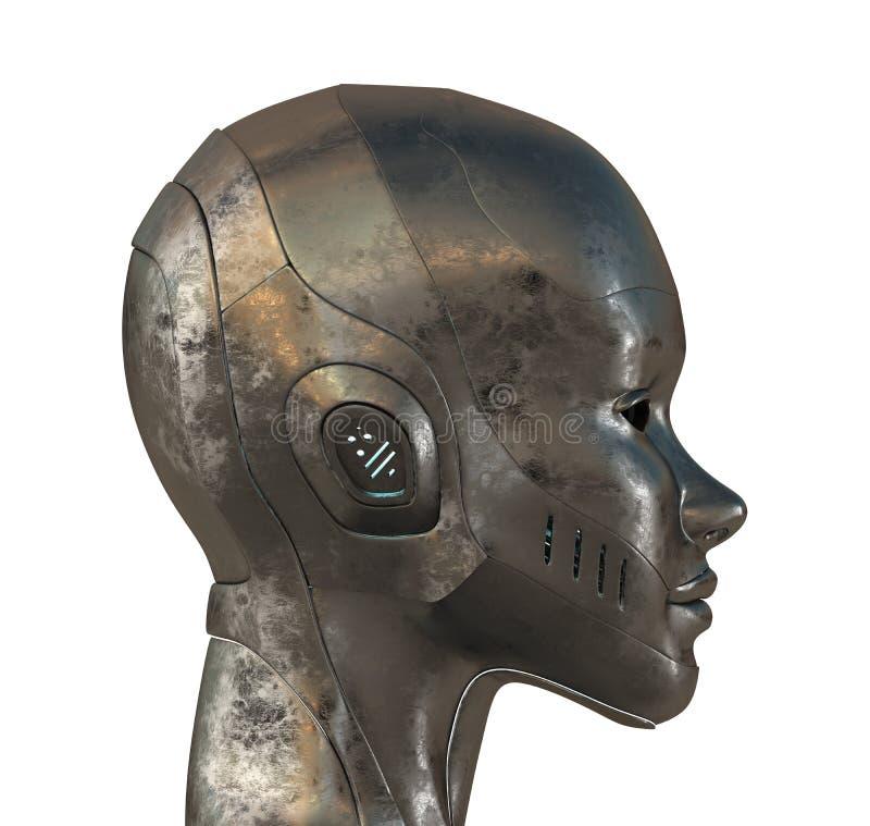 Profilo del metallo della donna di cyber royalty illustrazione gratis
