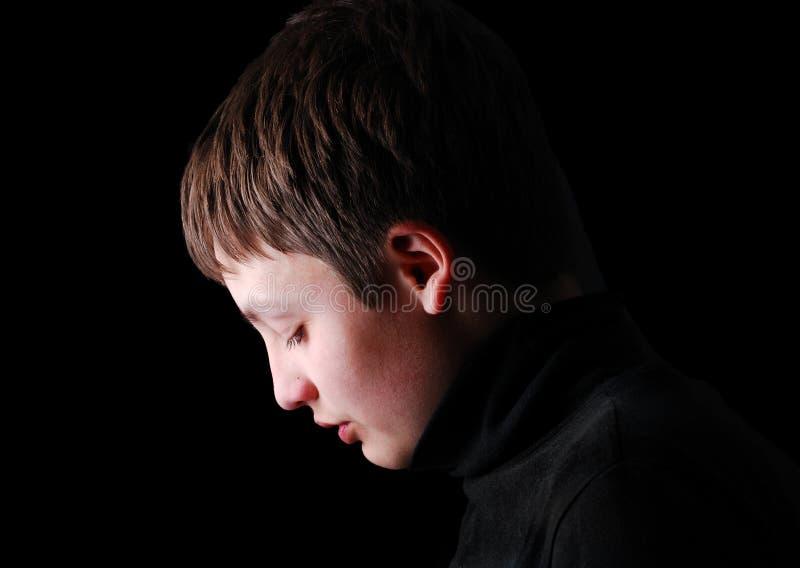 Profilo dell'adolescente di upset fotografie stock