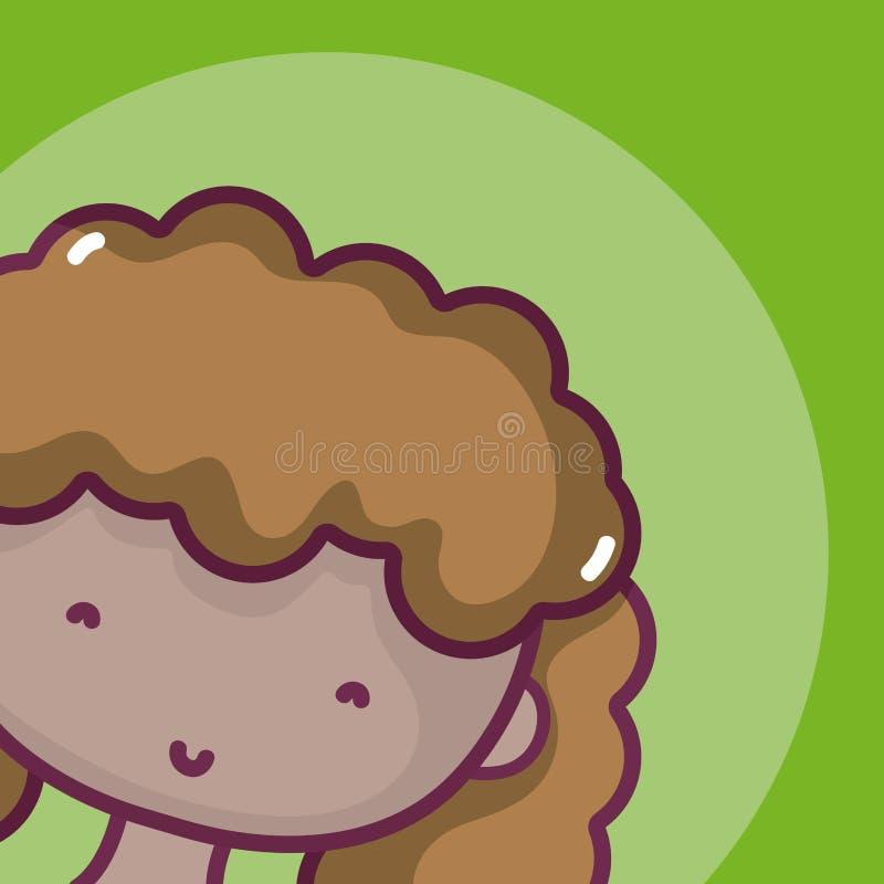 Profilo dell'avatar della donna royalty illustrazione gratis