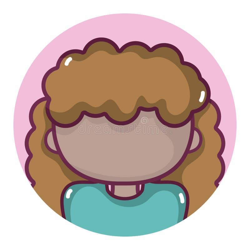 Profilo dell'avatar della donna illustrazione di stock
