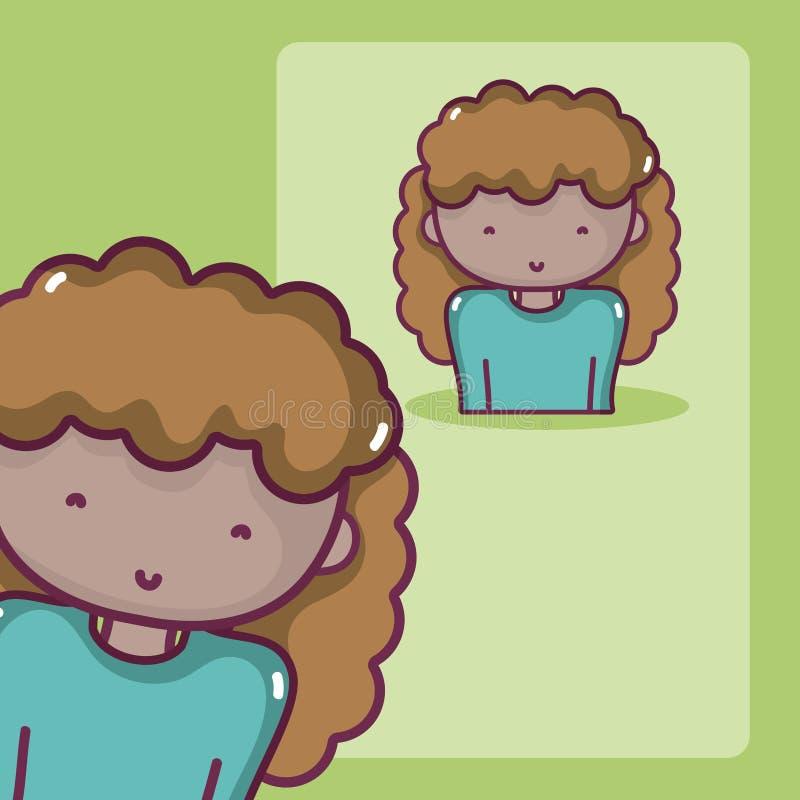 Profilo dell'avatar della donna illustrazione vettoriale