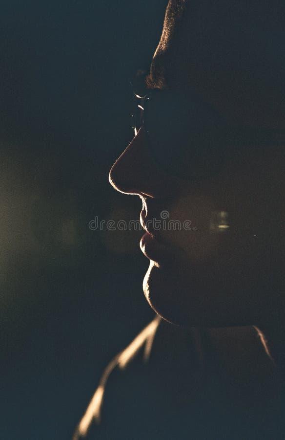Profilo dell'uomo fotografie stock libere da diritti