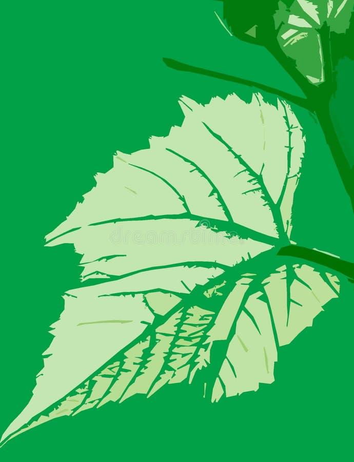 Profilo della foglia verde royalty illustrazione gratis