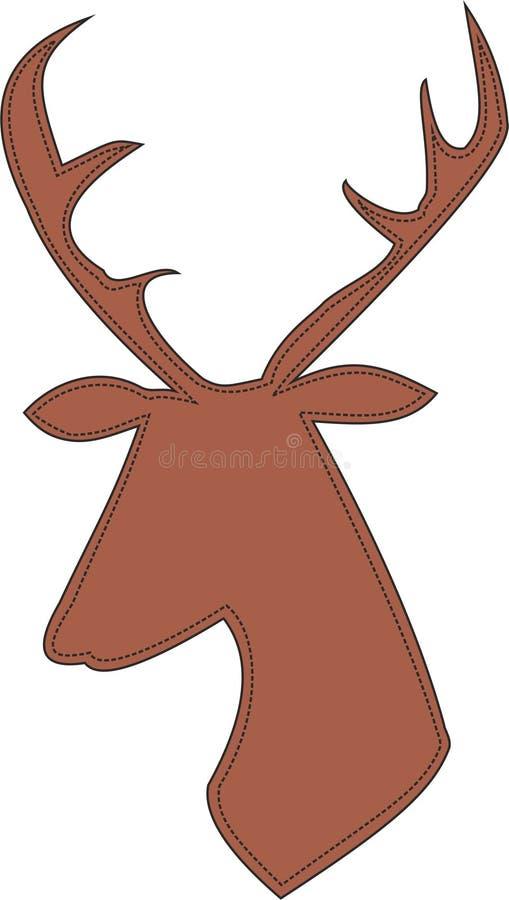 Profilo della renna immagini stock libere da diritti