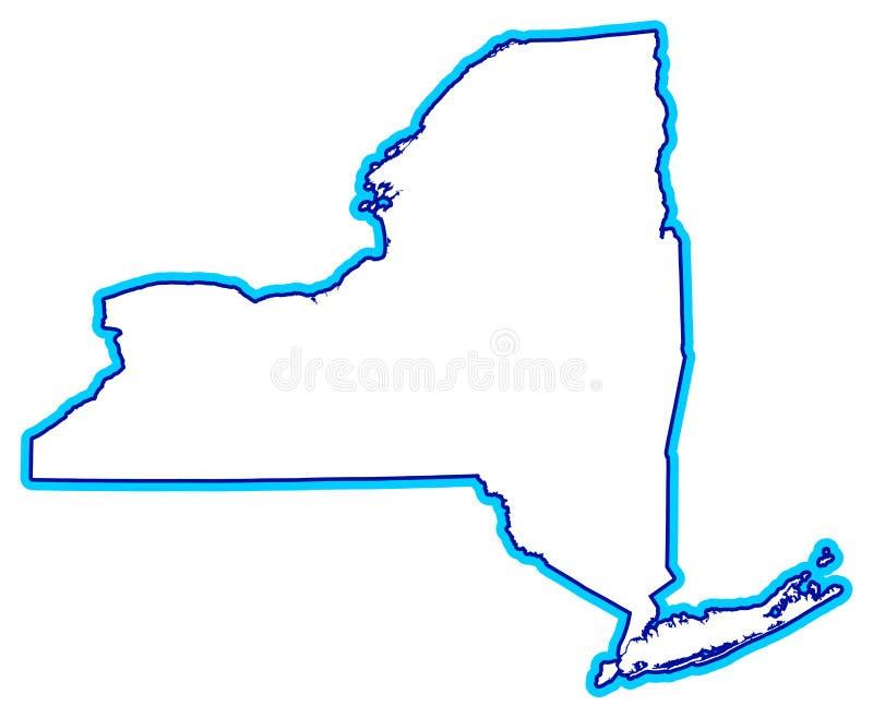 Profilo dello Stato di New York illustrazione di stock