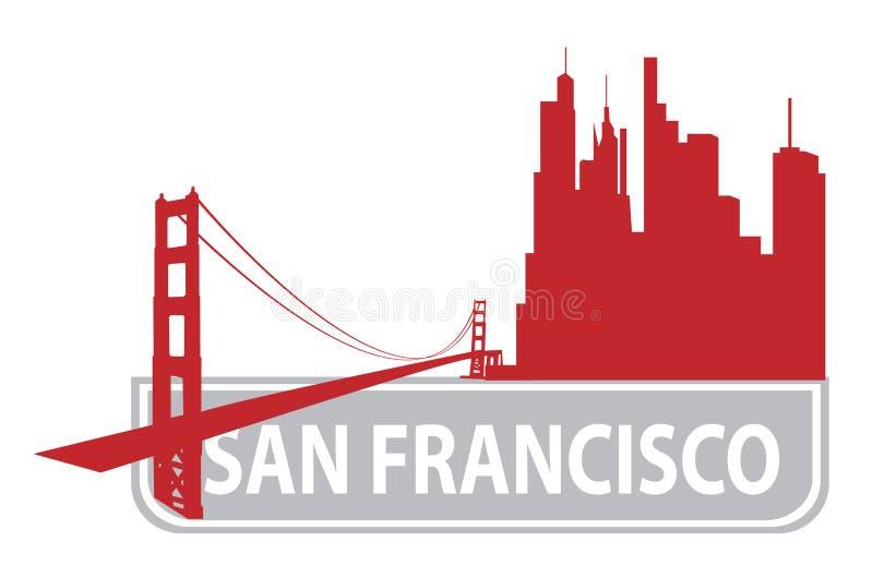 Profilo di San Francisco illustrazione vettoriale