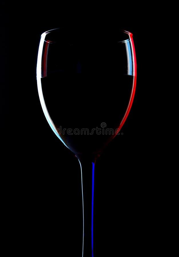 Profilo di vetro di vino immagini stock