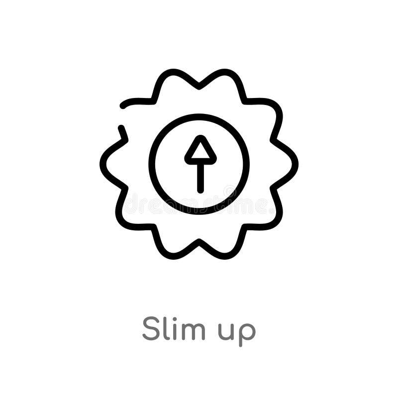 profilo esile sull'icona di vettore linea semplice nera isolata illustrazione dell'elemento dal concetto dell'interfaccia utente  royalty illustrazione gratis