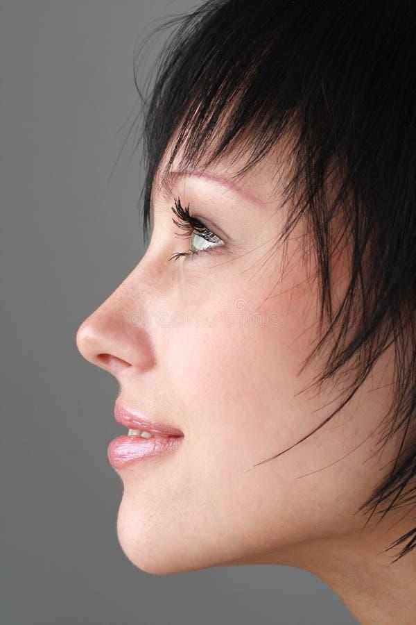 Profilo femminile fotografia stock libera da diritti