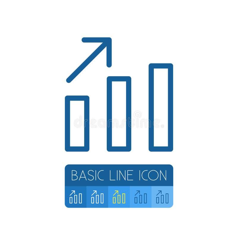 Profilo isolato del diagramma Elemento di vettore del grafico lineare può essere usato per la linea, grafico, coltivante il conce illustrazione vettoriale