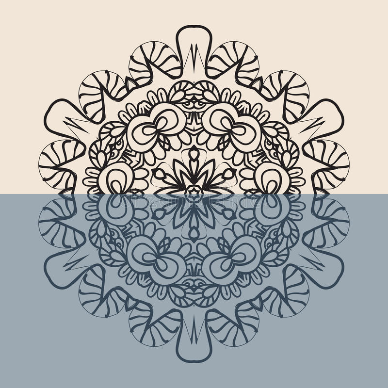 Profilo Mandala Background per la cartolina d'auguri illustrazione di stock