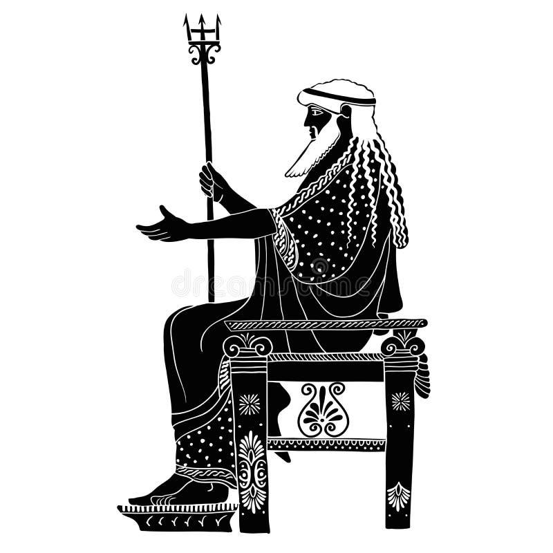 Profilo maschio greco illustrazione vettoriale
