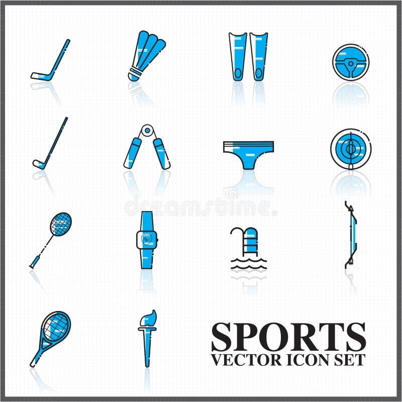 profilo messo icone di sport twotone illustrazione di stock