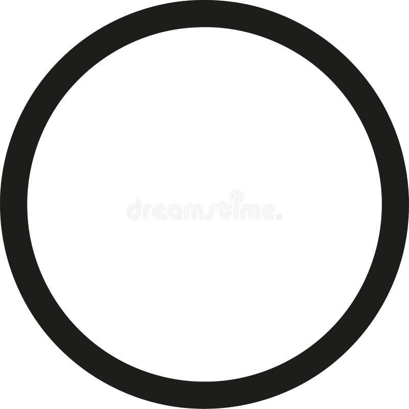 Profilo nero del cerchio illustrazione di stock