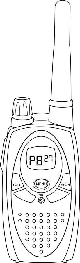Profilo radiofonico di vettore di PMR immagini stock libere da diritti