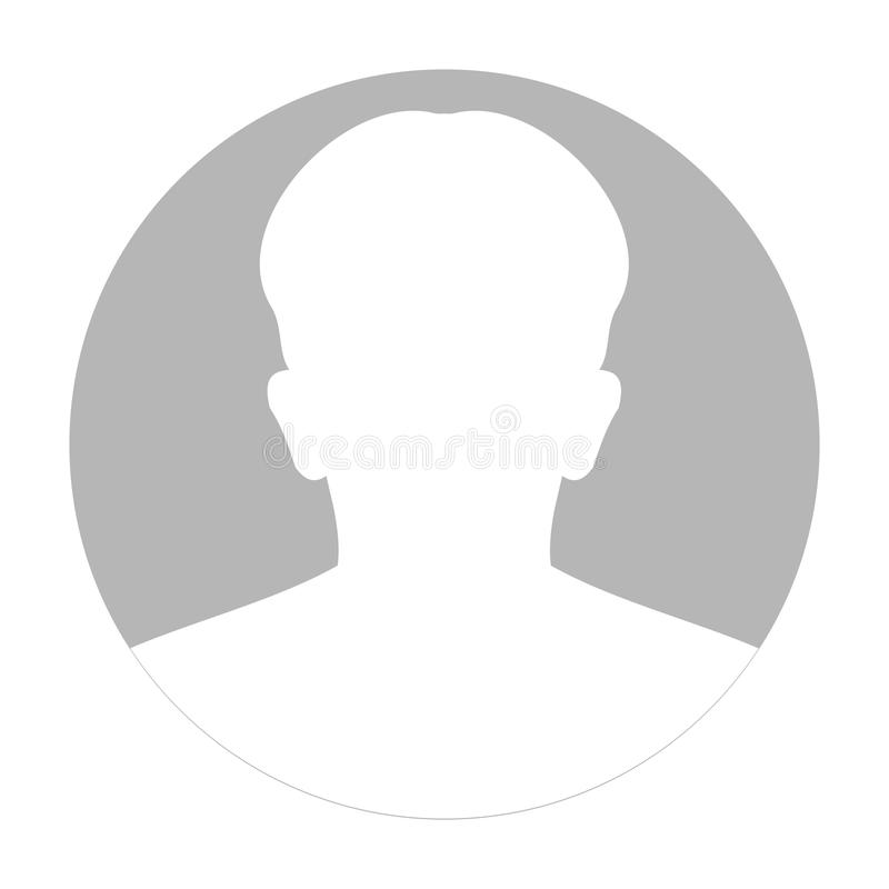 Profilowa anonimowa twarzy ikona Szara sylwetki osoba Męski braka avatar Fotografii Placeholder pojedynczy białe tło ilustracji